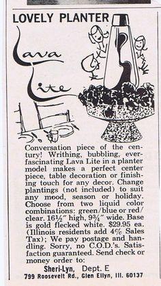 Lava Lite Planter - Ad 1967