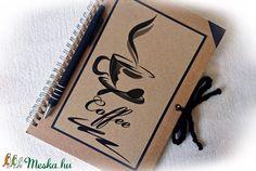 Kávé mintás napló, jegyzetfüzet,rusztikus stílusban- A5 méret (Merka) - Meska.hu Notebook, Coffee, Paper Board, Kaffee, Notebooks, Exercise Book, Coffee Art, The Notebook