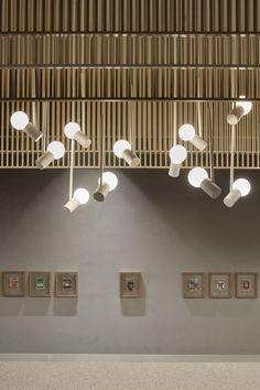 Architectural Lighting Design, Office Pictures, Wooden Stools, Light Architecture, Fish Design, Wooden Walls, Design Process, Contemporary Furniture, Furniture Design