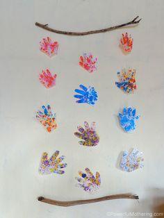 handprint wall hanging