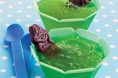 princess and the frog party ideas by parties by a pro. Chocolate frog relaxing in green jello. love it