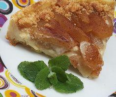 Torta de maçã sem lactose.