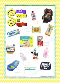 Baby Price is Right Game for Instant by MilestoneTreasures on Etsy, $5.00