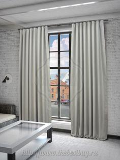 Шторы блэкаут для гостиной: Твила (арт. S015-3)  - (200х280)х2 см.  - серый