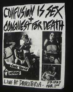 Sonic Youth, Danceteria show flyer