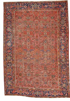 Heriz rug size approximately 7ft. 1in. x 10ft. 4in.