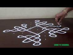 8 DOTS KOLAM || STRAIGHT DOTS || MELIKALA MUGGULU || KAMBI / NELI KOLAM || HOW TO DRAW || - YouTube