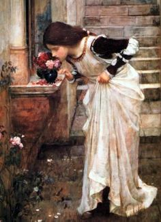 """The Shrine"".  (1895).  ""O Santuário"". (by John William Waterhouse)."