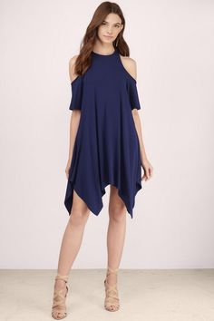 Alba Cold Shoulder Shift Dress at Tobi.com #shoptobi
