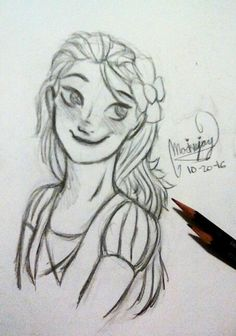 Rapunzel Drawing @MockieJay Its supposed to say 12-20-16 whoops
