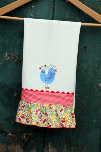 Ruffled Dishtowel by Lindsay Wilkes >> National Serger Month
