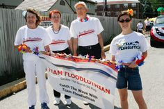 The Floodlothian group in the parade in Midlothian, IL on Saturday, June 27th, 2015. Photos by Jasmin Shah.