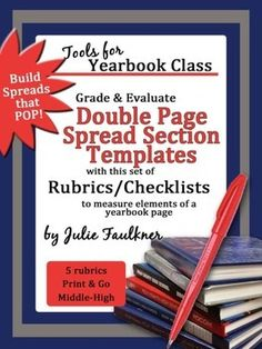 New Item: Designing Yearbook Spreads Templates Rubrics Pack for Grading & Feedback