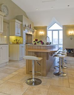 Celtic Interiors Stunning Hand Painted And Oak Kitchen. The Island In This  Kitchen Is