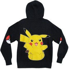 Pokemon Pikachu Pokeball Zip Hoodie Sweatshirt ($25) ❤ liked on Polyvore featuring tops, hoodies, sweatshirts, zipper top, zip hoodies, sweatshirt hoodies, hooded zipper sweatshirts and zip sweatshirt