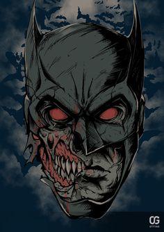 Zombie Batman by Bakerrrr on DeviantArt Batman Poster, Batman Artwork, Dc Comics Characters, Dc Comics Art, Batman Drawing, I Am Batman, Batman Universe, Dc Universe, Zombie Art
