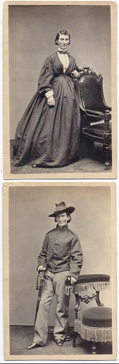 Women Soldiers Who Dressed and Fought as Men in the Civil War. --- To pass as a man, Union soldier Frances Louisa Clayton, who enlisted with her husband in 1861 as 'Jack Williams,' took up gambling, cigar-smoking, and swearing. Courtesy of the Trustees of the Boston Public Library. read the book about it:  http://www.amazon.com/They-Fought-Like-Demons-Soldiers/dp/1400033152/?tag=braipick-20