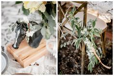 Chair Swag Floral Design - A to Zinnias  Photography - Brandon Lata RedBluffPlantation