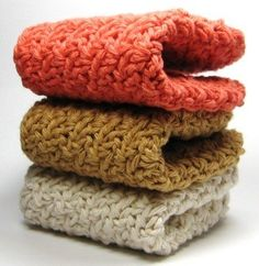 Crochet Washcloths Cotton Dishcloths by Easy123 on Etsy, $10.00