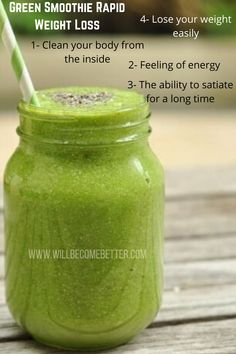 Healthy smoothies for weight loss This Green Smoothie Weight Loss Recipe really works and we should know, we use it. This easy and delicious Smoothie will give your body a much needed to energy #greensmoothieforweightloss