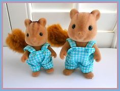 Sylvanian Families Clothes BLUE, Co-ordinating Outfits for the Whole Family
