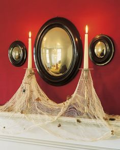 Cobweb Candles | Step-by-Step | DIY Craft How To's and Instructions| Martha Stewart. Halloween
