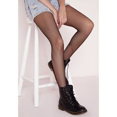 Missguided Fishnet Tights ($8.50) ❤ liked on Polyvore featuring intimates, hosiery, tights, black, black pantyhose, fishnet stockings, black stockings, black hosiery and fishnet pantyhose