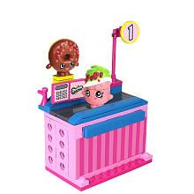 Shopkins Kinstructions Mini Pack Building Set 62 Pieces  Checkout Lane with DLish Donut and Soda Pops