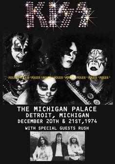 Kiss - Detroit 1974...special guest: RUSH