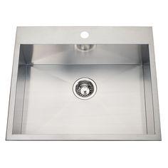 20 Ga HandFab DM single sink 1 hole drilling Kohler Sink, Undermount Sink, Single Bowl Kitchen Sink, Single Sink, Fitted Cabinets, Commercial Faucets, Utility Sink, Bar Sink