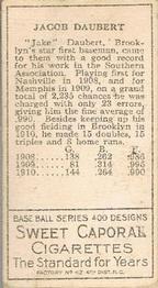 1911 T205 Gold Border #44 Jake Daubert Back