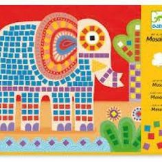 The Djeco Mosaics Set is an art by number activity on which you stick foam tiles in place to make an elephant and a snail picture. Train Journey, Activities To Do, 5 Year Olds, Creative Kids, Fine Motor Skills, Snail, Getting Old, Mosaic, Elephant