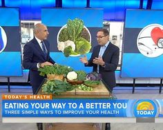 Dr. Frank Lipman teaching The Today Show's Matt Laur the importance of a healthy diet!