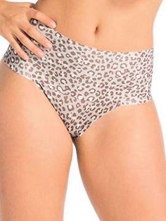186aa6781b447 SPANX Thong Panties XS S M Undie Tectable SP0115 Shapewear Small Mini  Leopard
