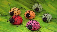 Crocheted Ladybug by Julia Kolbaskina Crochet Patterns Amigurumi, Crochet Dolls, Crochet Yarn, Crochet Flowers, Crochet Ladybug, Cute Crochet, Yarn Animals, Crochet Animals, Lion Craft