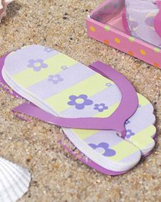 Flip Flop Shaped Note Pad Lavender Color