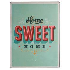 """Nostalgie-Blechschild """"home sweet home"""" - Geschenke von Geschenkidee"""