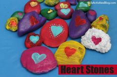 Paint your stones, write your kibd message on the back and leave them to be found by your intended recipient/s.