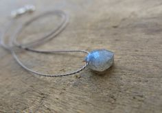 Minimalist necklace with a small faceted rhombus by MarisaBecca, €15.00
