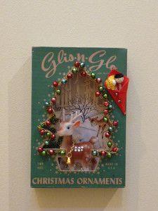 Vintage Christmas Ornament Shadow Box...on ebay