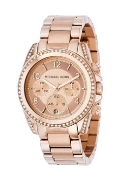 Micheal Kors watch in rose gold. Love IT!