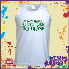 St Patricks Day I Like To Drink Funny Slogan Mens Vest  Our Price: £10.97