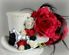Kentucky Derby Hat Flower Mini Top Hat by LittleMissHattitude
