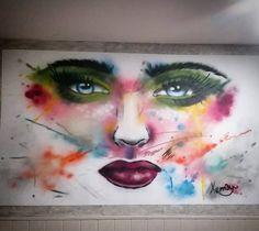 Street art by Xema in Torrecardenas, Spain.