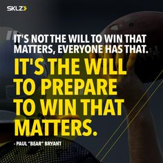 How are you preparing to win? Paul Bear Bryant, Train Hard, Monday Motivation, Strength Training, Motivational Quotes, How To Get, Inspired, Inspiration, Biblical Inspiration