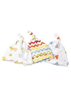 Buy Three Pack Bright Animals Tie Top Hats (0-12mths) from the Next e6363d5782c4