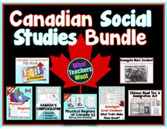 Canadian Social Studies - My Favourite Products at a Discount! Canadian Social Studies, Fall Cleaning, Elementary Teacher, Teaching Resources, School Stuff, Physics, I Am Awesome, Canada, Study