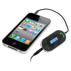 iKross 3.5mm LED FM Radio Transmitter with Auto-Scan Car Kit for Sansa Fuze, Fuze Plus , Clip, Clip