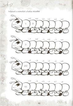 Összeadás és kivonás 20-ig - kisferenc.qwqw.hu Album, School, Picasa, Math Resources, Card Book