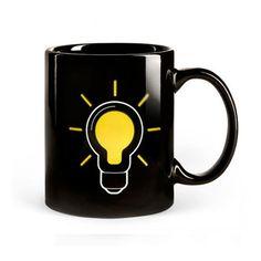 Heat Sensitive Color Changing Mugs Light Bulb Pattern Ceramic Coffee Mug Caneca Ceramic Mug And Mugs Unique Gift Color Changing Light Bulb, Best Tea, Ceramic Cups, Komodo, Tea Mugs, Mug Cup, Color Change, Coffee Cups, Coffee Coffee